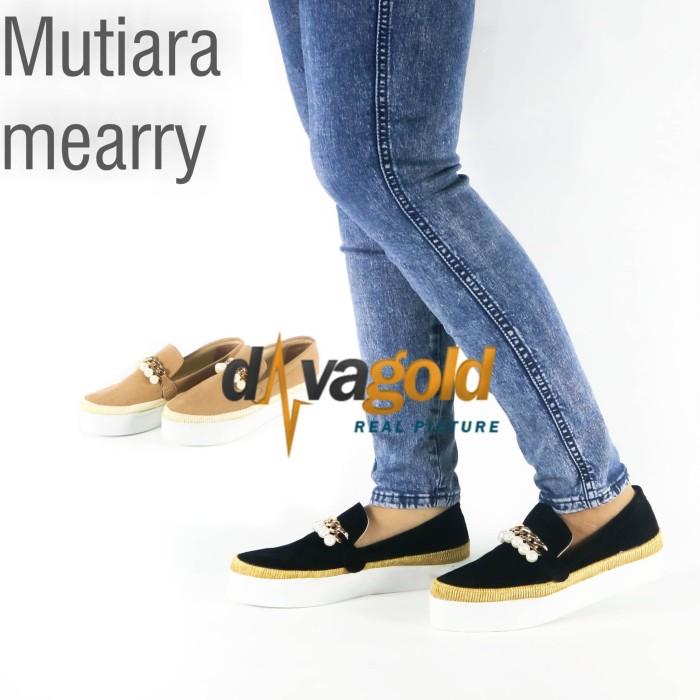 Jual sepatu wanita slip on mutiara - Hitam 169fc7f479