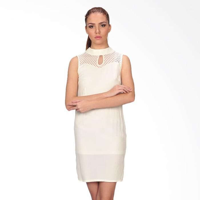 mini dress wanita noris - putih