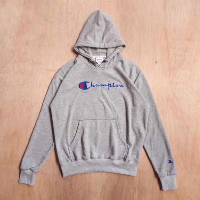 Jual Hoodie Sweater Champion Logo Script Authentic Grey Premium Hitam M Harga Rp 160.000