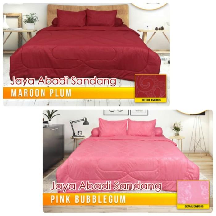 BED COVER SET CALIFORNIA POLOS 180 X 200 / BEDCOVER CALIFORNIA POLOS    Maroon PLUM