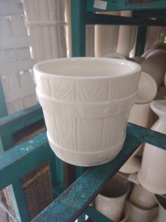 harga Vas bunga keramik drum mini Tokopedia.com