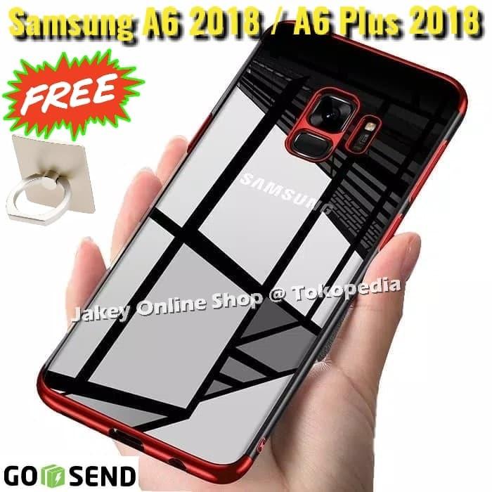 Foto Produk TPU PLATING case Samsung A6 - A6 Plus 2018 casing hp cover ultra thin dari Jakey Online Shop