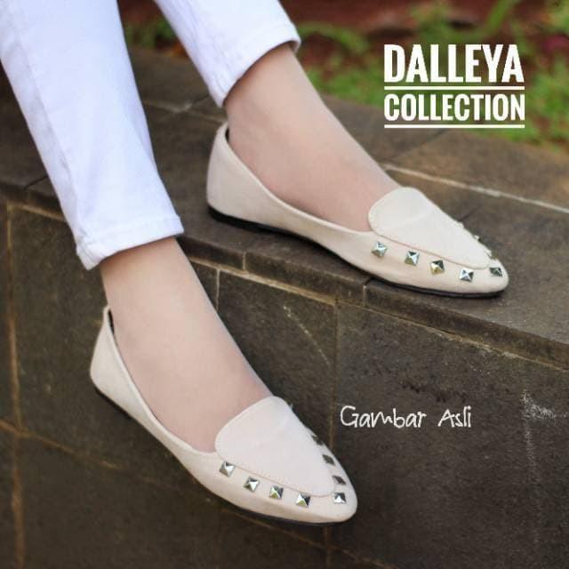 KALIHA - real pict sepatu Dalleya casual wanita simple Flat shoes