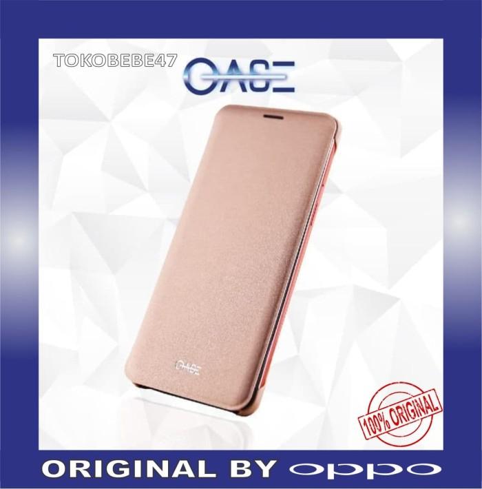 harga Oase leather case oppo smartphone f7 flip case - rose gold Tokopedia.com