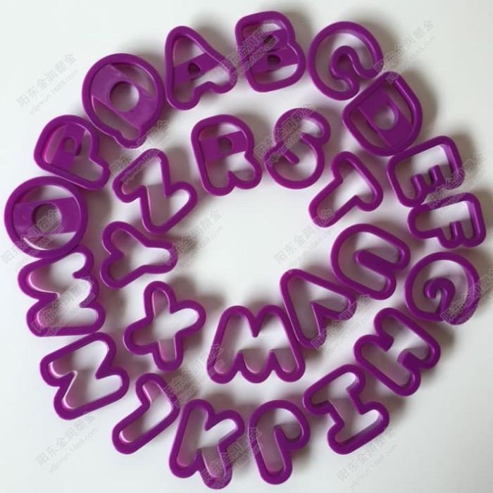 harga Set cetakan plastik berbentuk abjad / huruf a-z (isi 26) Tokopedia.com