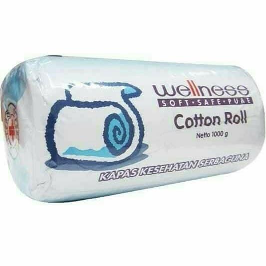 Kapas Cotton Roll Wellness 1 kg 1000 gr