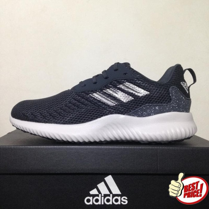 689ab89a43866 Jual Sepatu Running Lari Adidas Alphabounce RC M Black Chalk Pearl ...