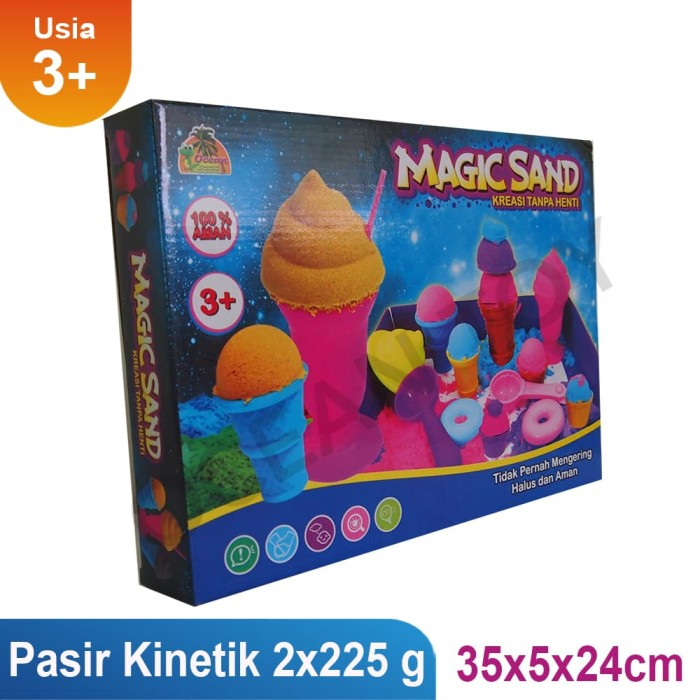 mainan pasiran magic sand termurah