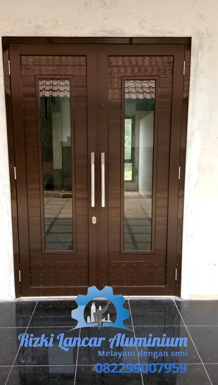 Jual Pintu Rumah Minimalis Kota Depok Rizki Lancar Alumunium