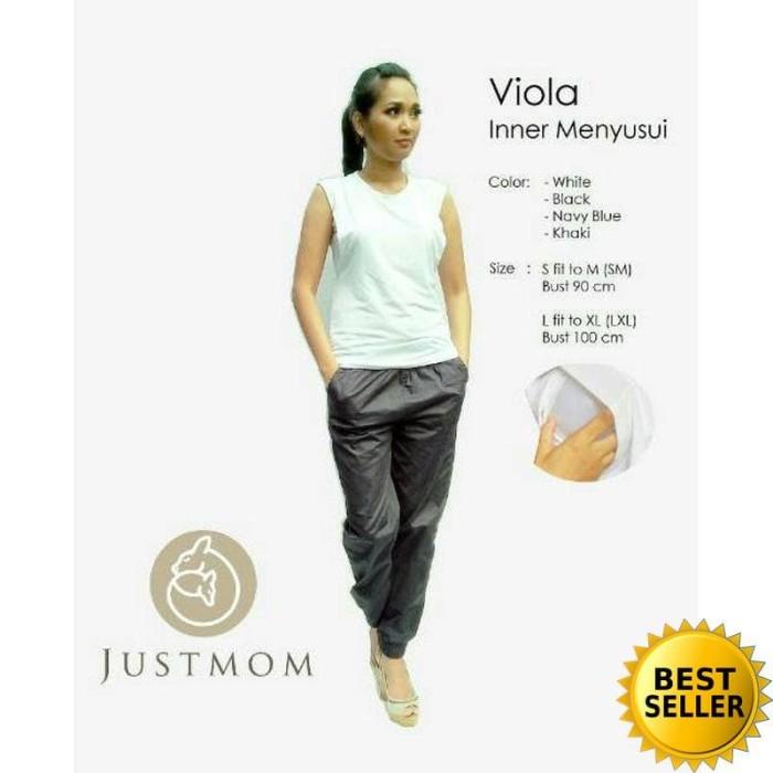 Just Mom baju menyusui Inner Viola - Putih