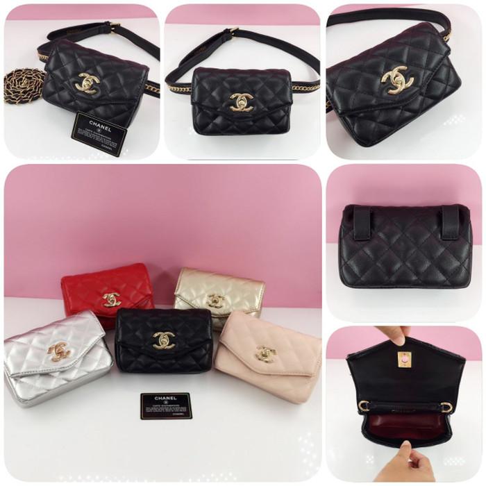 Jual Tas Chanel Waist Bag Tas Wanita Tas Pinggang Selempang Samping ... c23d37a4d2