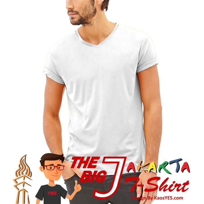 Kaos pria murah KaosYES Kaos Polos T-Shirt V-NECK LENGAN PENDEK