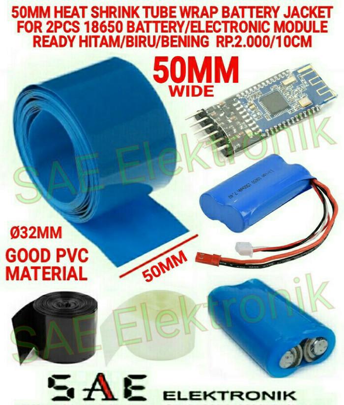 Foto Produk 10CM 50MM HEAT SHRINK PVC JACKET 18650 BATT WRAP FOR 2X BATT SLEEVE dari SAE elektronik Cirebon
