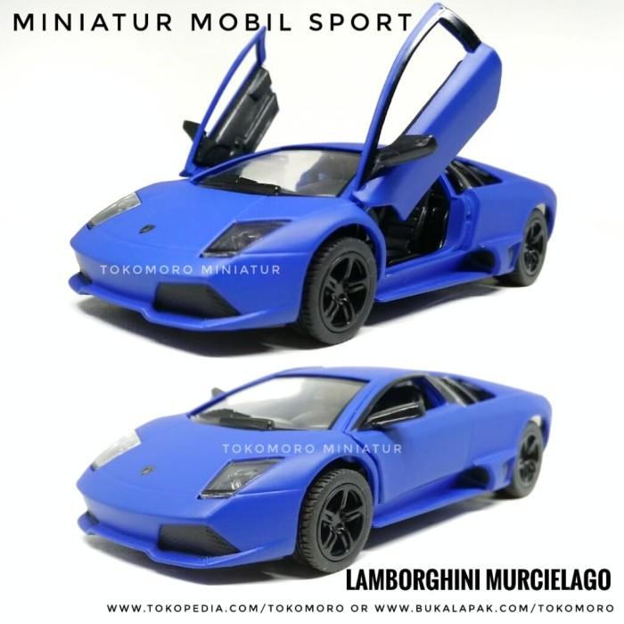 harga Lamborghini murcielago biru listrik doff diecast miniatur mobil kin Tokopedia.com