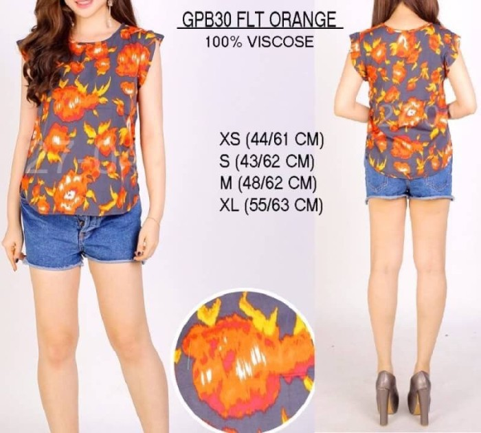harga Baju branded wanita - gap gpb30 flt orange Tokopedia.com
