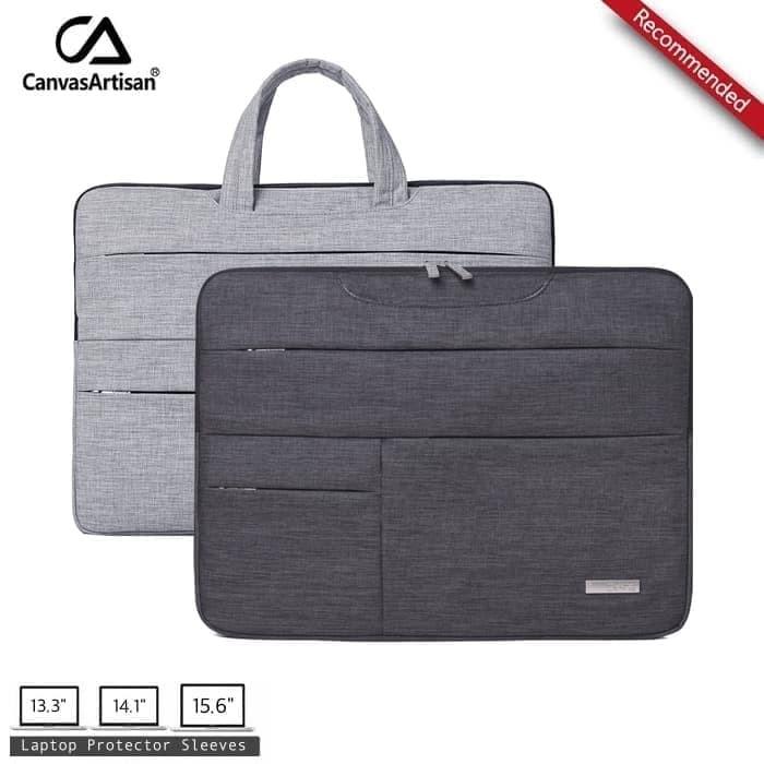 Tas Laptop Sleeve   Softcase   Handbag Macbook 13 14 15 inch - Abu-abu 32bb6cafe9