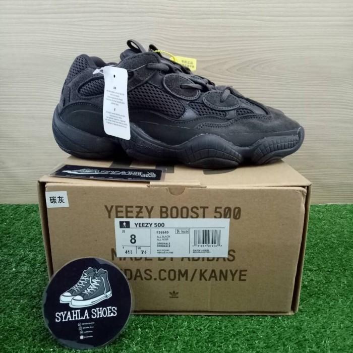 buy online c2221 09911 Jual ADIDAS YEEZY DESERT RAT 500 UTILITY BLACK 100% UA QUALITY - Hitam, 40  - DKI Jakarta - Syahla Shoes | Tokopedia