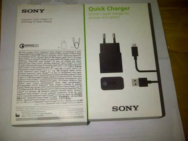 harga Charger sony original fast charging uch-10 qualcomm quick carge 2.0 Tokopedia.com