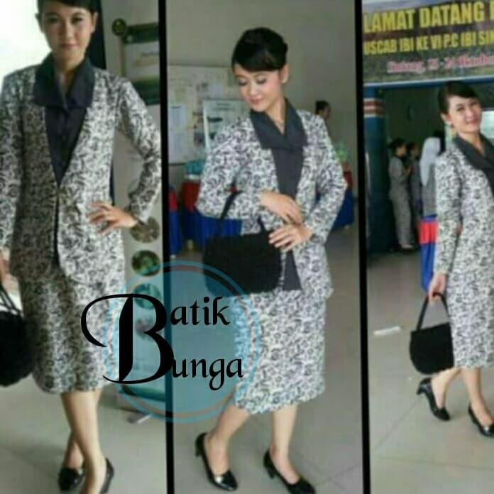 94 Model Baju Batik Ibi Kekinian