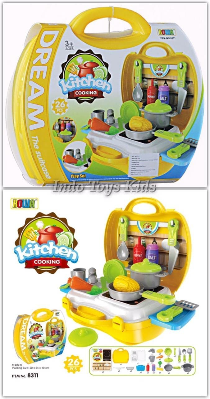 Foto Produk Bowa 8311 Dream The Suitcase [Kitchen Cooking] dari fajar toys store