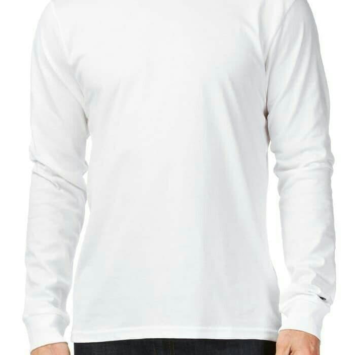 Jual Kaos Polos Katun Combed 30s Lengan Panjang Longsleeve Warna Putih Jakarta Pusat Hd Stor Tokopedia