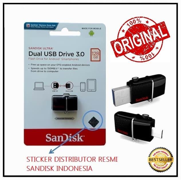 SANDISK FLASH DISK USB OTG m3.0 128GB UP TO 150MB/S GARANSI RESMI