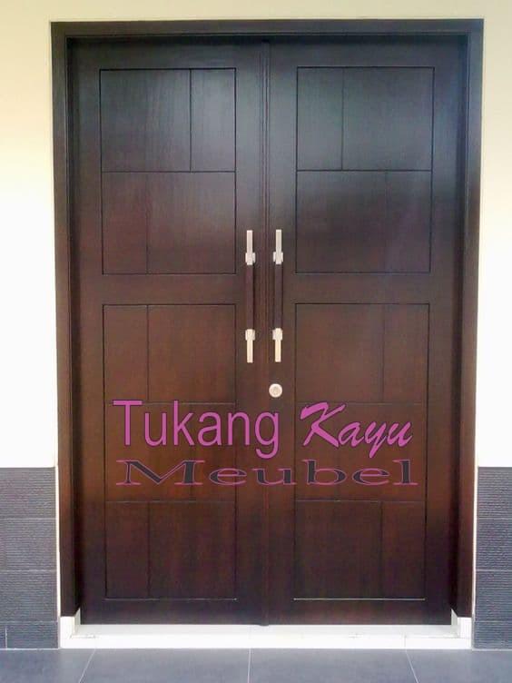 Jual Pintu Rumah Kupu Tarung Jati Minimalis Daun Pintu Jati Kab Jepara Tukang Kayu Meubel Tokopedia