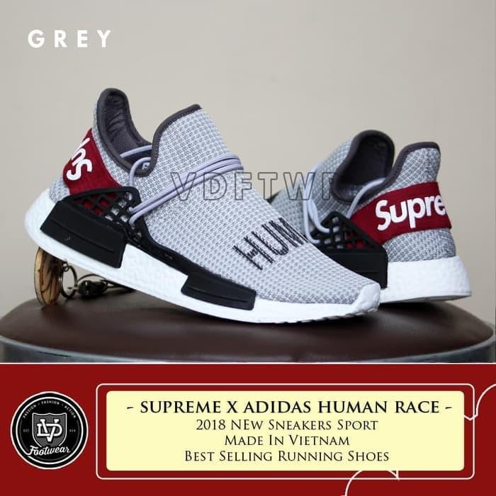 best loved 64a95 27125 Jual Sepatu Sneakers Terbaru SUPREME x ADIDAS HUMAN RACE NMD SLIP ON SPORT  - DKI Jakarta - Sneakers 99 | Tokopedia