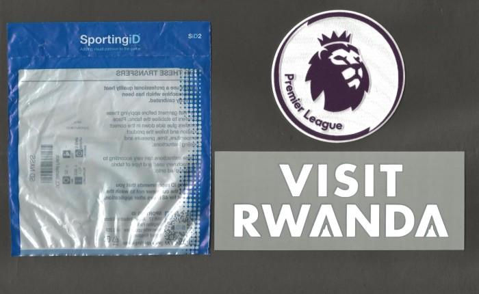 harga Patch visit rwanda + premier league standard. arsenal. original jersey Tokopedia.com