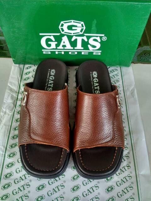 Sandal kulit casual Gats OR 611 Brown original