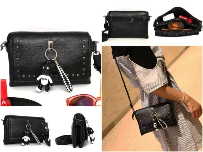 Tas Mini Import Wanita TOI22200SN Pink Black Tas Batam Branded Bag - Hitam 5122b771cf
