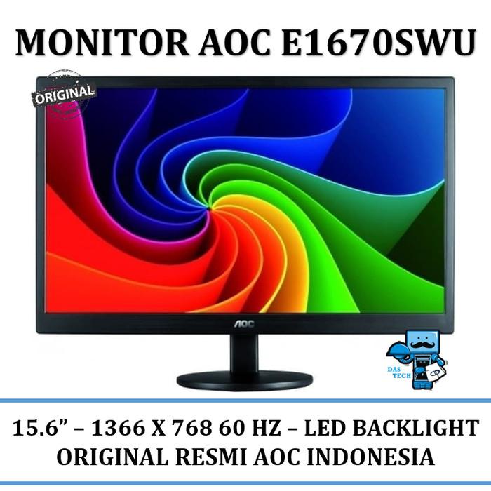harga Lcd monitor led aoc e1670swu - 15.6 inch hd office monitor Tokopedia.com