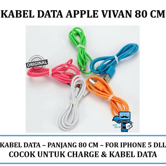 Kabel Data VIVAN for Iphone 5 - 80cm (Original Resmi)