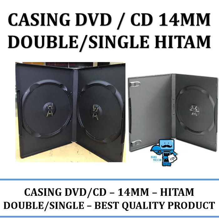 harga Casing dvd / cd 14mm double/single hitam 1 pack isi 25 Tokopedia.com