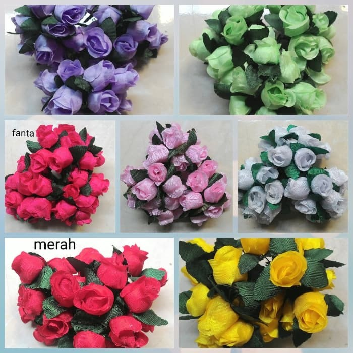 Foto Produk Bunga mawar kuncup mini isi 12 pcs dari in's ol shop