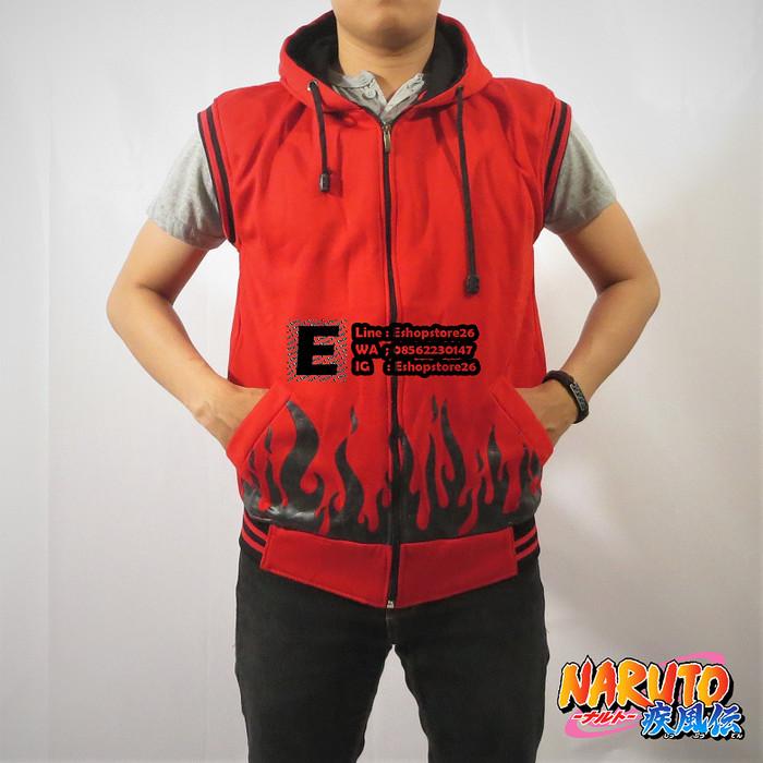 Jaket rompi anime naruto yondaime hokage merah