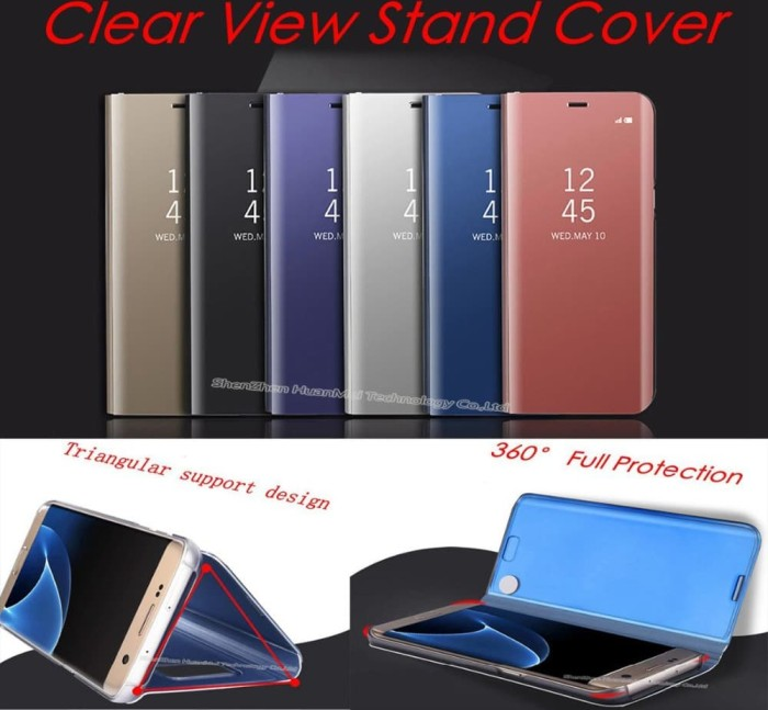Flip Clear View standing cover mirror case samsung galaxy Note9 Note 9