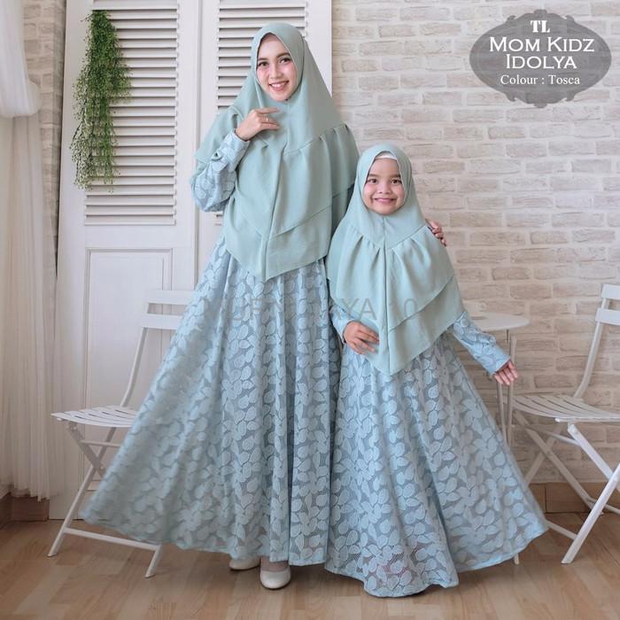 Jual Promo Baju Gamis Couple Ibu Anak Moona Premium Sepasang Ibu Dan