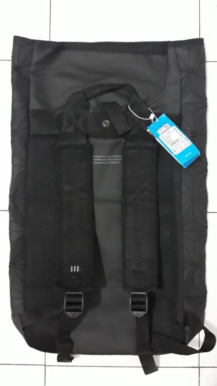 b7ebae824530 Jual ADIDAS tas ransel import motif 3D model gulung tas hitam casual ...