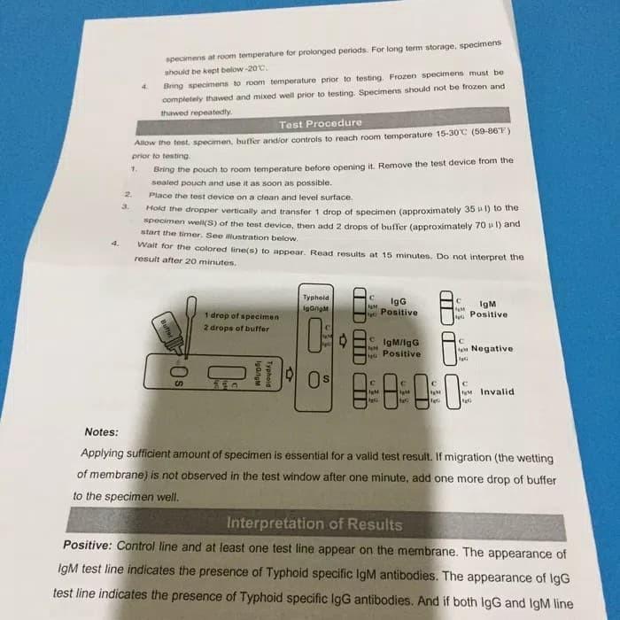 Jual TYPHOID IGG/IGM TEST CARD  NOVA TEST  - DKI Jakarta - tridaris medical  | Tokopedia
