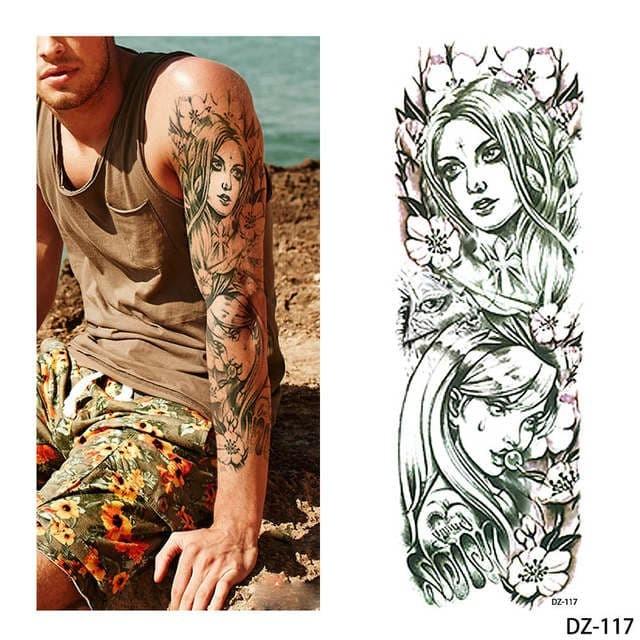 Jual Big Size Full Arm Temporary Tattoo Sticker Stiker Tato Sementara Kab Sragen Ez Art Tokopedia