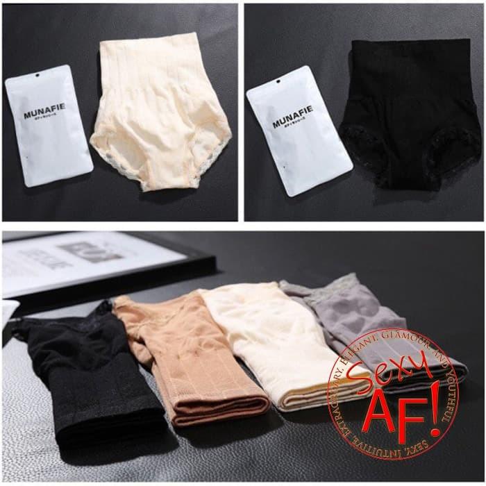 Munafie Slimming Pants Celana Korset Pelangsing Penekan Lemak Murah - Hitam
