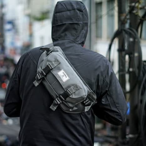 Tas pinggang / wasit bag linen - Abu-abu