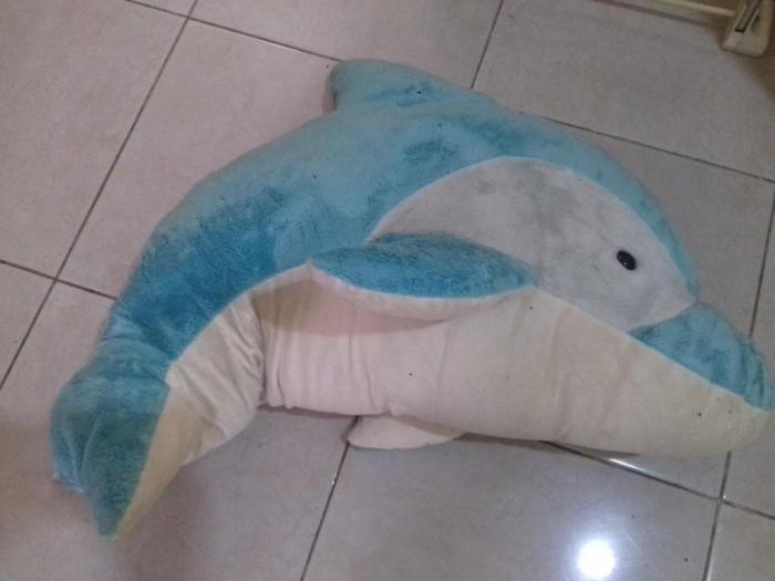 Jual Boneka Lumba lumba Dolphin besar GRATIS boneka teddy piyama ... f24eb23dcc