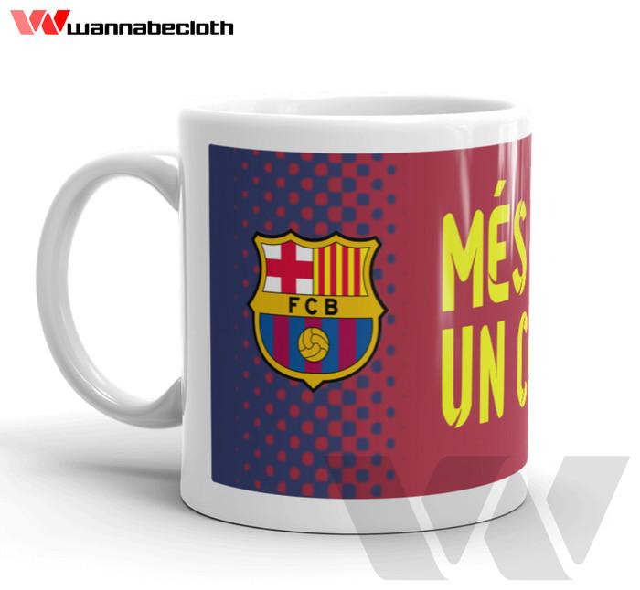 harga Mug gelas mug keramik souvenir bola barcelona berkualitas Tokopedia.com