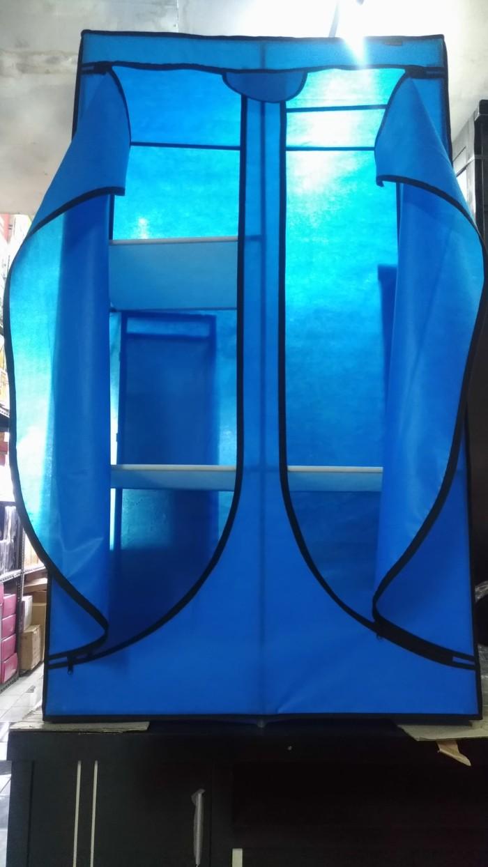 Jual Portable Wardrobe Lemari Pakaian Kerangka Besi Dinding Kain Tipe SEW Kota Tangerang Kaliwaluh