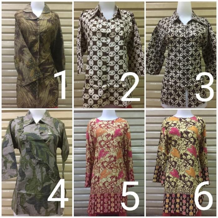 harga Blouse blus tunik pakaian batik wanita ika fashion tanah abang murah  Tokopedia.com e80bd55062