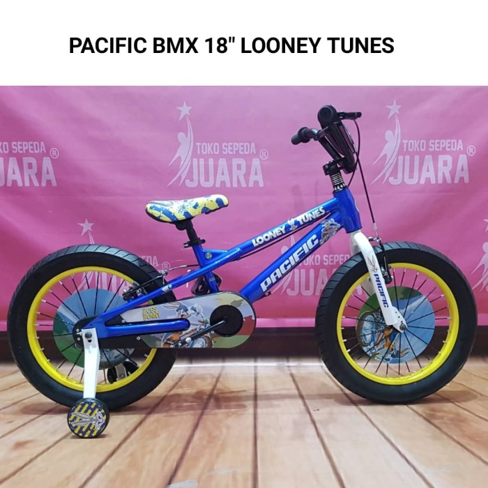 SEPEDA BMX PACIFIC LOONEY TUNES BUGS BUNNY 18 INCH BLUE