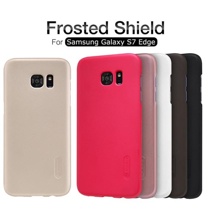 SAMSUNG Galaxy S7 Edge NILLKIN Frosted Hardcase (Free Anti Gores) - Hitam