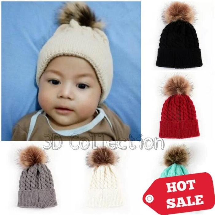 Jual Topi Kupluk Rajut Import Bayi dan Anak Bola Pom Pom Beanie Hat ... 234d6eeed0